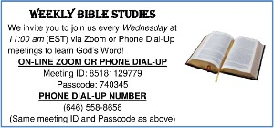 Weekly Bible Studies